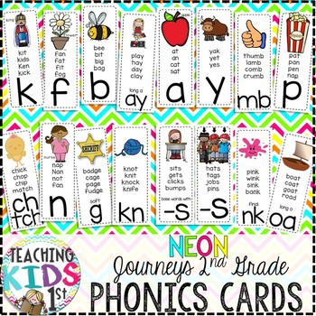 {NEON} Journeys 2nd Grade Phonics Cards