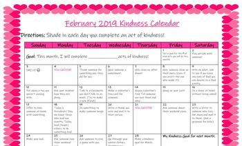 *NEW* 2019 Kindness Calendars (January-May)- GREAT VALUE!!