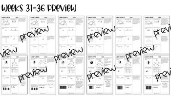 *NEW* 4th Grade Math Spiral Review (Weeks 21-36)