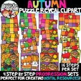 **NEW- Autumn Reveal Puzzles Clipart {Digital Puzzles Clipart}