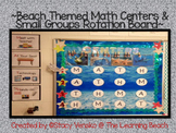 **NEW**Beach/Ocean Themed MATH Centers Rotation Bulletin Board**
