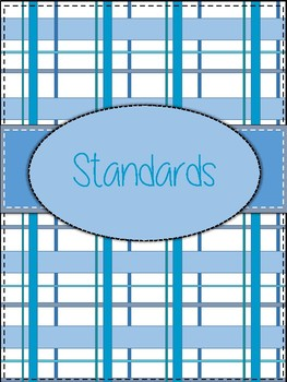 **NEW** Blue Plaid Binder Cover and Section Dividers
