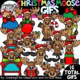**NEW- Christmas Moose GIFs Clipartimation {Christmas GIFs}