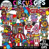 **NEW- Circus GIFs Clipartimation {Circus GIFs}