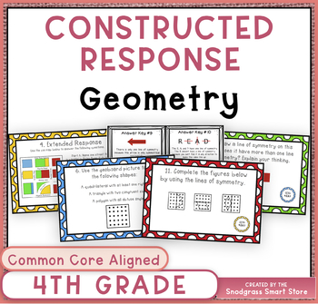 Math Constructed Response Word Problems: 4th Geometry (G)