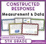 Math Constructed Response Word Problems: 5th Measurement a