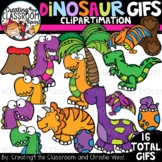 **NEW- Dinosaur GIFs Clipartimation {Animated Clipart}