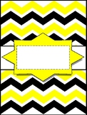 **NEW** EDITABLE Chevron Binder Covers!