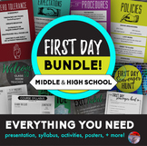 FIRST DAY BUNDLE for Middle & High School - Save 15%!