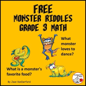 """NEW"" FREE Monster Riddles 