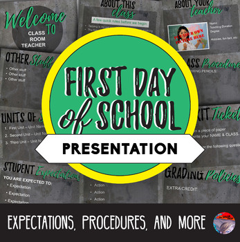 [NEW] First Day Presentation - Easily Editable!