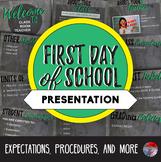 First Day Presentation - Easily Editable!