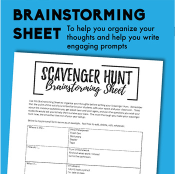 First Day Scavenger Hunt