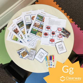 G Sound Flashcards and Mini Books