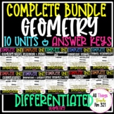 **NEW GEOMETRY - NO PREP FULL CURRICULUM + DIFFERENTIATED