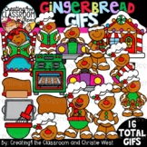 **NEW- Gingerbread GIFs Clipartimation {Christmas GIFs}