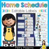 Daily Schedule {Home Routine Labels} EDITABLE