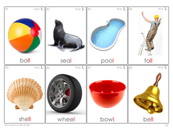 *NEW* /L/ Articulation 60 Photo Flash Cards : Speech Therapy