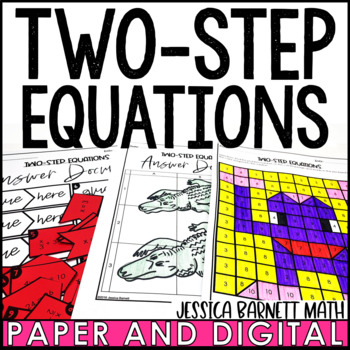 Two-Step Equations Activity Pack