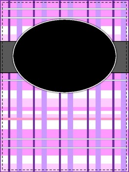 **NEW** Pink Plaid Binder Cover and Section Dividers