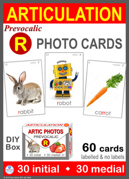 *NEW* Pre-vocalic /R/ Articulation 60 Photo Cards : Speech Therapy