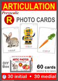Pre-vocalic /R/ Articulation 60 Photo Cards : Speech Therapy