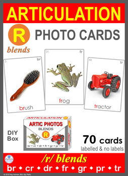 *NEW* /R/ BLENDS Articulation 70 Photo Cards : Speech Therapy