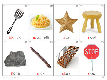 *NEW* /S/ BLENDS Articulation 70 Photo Cards : Speech Therapy