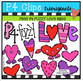 {NEW SERIES} P4 FUZZY Love Birds FREE (P4 Clips Trioriginals Clip Art)