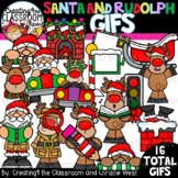**NEW- Santa and Rudolph GIFs Clipartimation {Christmas GIFs}
