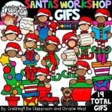 **NEW- Santas Workshop GIFs Clipartimation {Christmas GIFs}