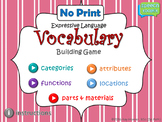 NO PRINT Expressive Language Vocabulary Game