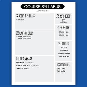 [NEW] Syllabus Template - Easily Editable!