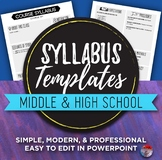 Syllabus Template - Easily Editable!