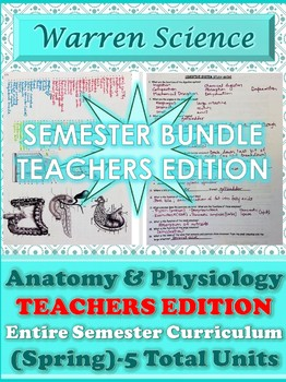 !!!NEW!!! Teachers Edition: Spring Semester Human Anatomy & Physiology