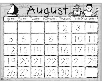 ***NEW! Traceable Monthly Calendars for 2018-2019