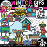 **NEW- Winter GIFs Clipartimation {Animated Clipart}