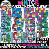 *NEW- Winter Reveal Puzzles Clipart {Digital Puzzles Clipart}