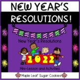 ** NEW YEAR'S RESOLUTIONS ** LESSON & GAMES *** Happy New Year !!! Google Slides