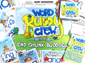 -NG Word Buddy Combo Pack (ANG, ING, ONG, UNG) Cards and Posters