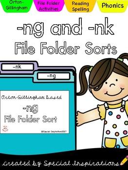 -NG and -NK Welded Sounds File Folder Sorts (Orton-Gillingham)
