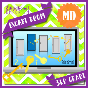 ⭐ NO PREP ⭐ 3rd Grade Math Escape Room ⭐ Measurement & Data ⭐