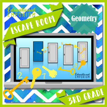 ⭐ NO PREP ⭐ 3rd Grade Math Escape Room ⭐ Geometry ⭐