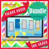 ⭐ NO PREP ⭐ 3rd Grade Math Escape Rooms BUNDLE ⭐