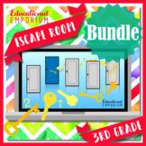 ⭐ NO PREP ⭐ 3rd Grade Math Escape Rooms BUNDLE ⭐ Distance