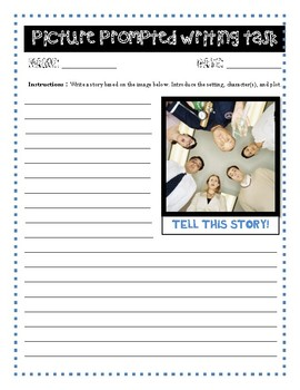 [NO PREP!] 4 Picture-Prompted Writing Tasks! Grades 4+