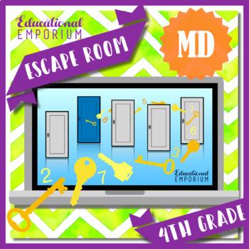 ⭐ NO PREP ⭐ 4th Grade Math Escape Room ⭐ Measurement & Data ⭐
