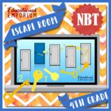 ⭐ NO PREP ⭐ 4th Grade Math Escape Room ⭐ NBT ⭐