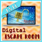 ⭐ NO PREP ⭐ Verb Tense Escape Room L.5.1.C ⭐ 5L1C - L51