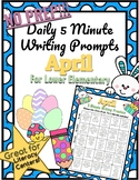 *NO PREP* 5-Minute Writing Prompt - April - Lower Elementary